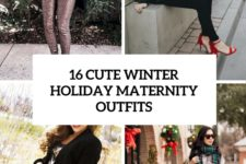 16 cute winter holiday maternity outfits cover