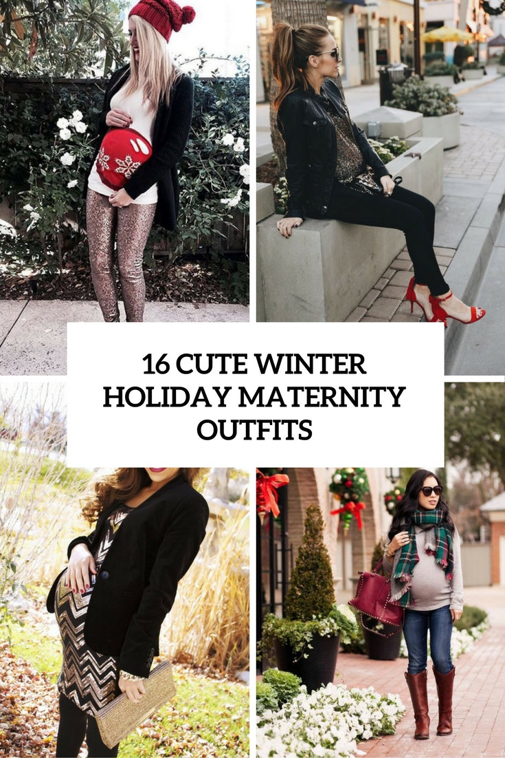 16 Cute Winter Holiday Maternity Outfits