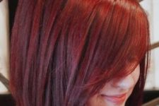 16 stylish red long bob