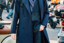17 a shirt, a tweed suit and a navy coat