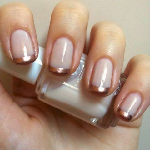 blush and copper tips look very girlish