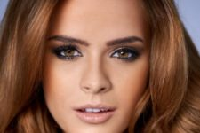 17 natural smokey eyes and glossy nude lips