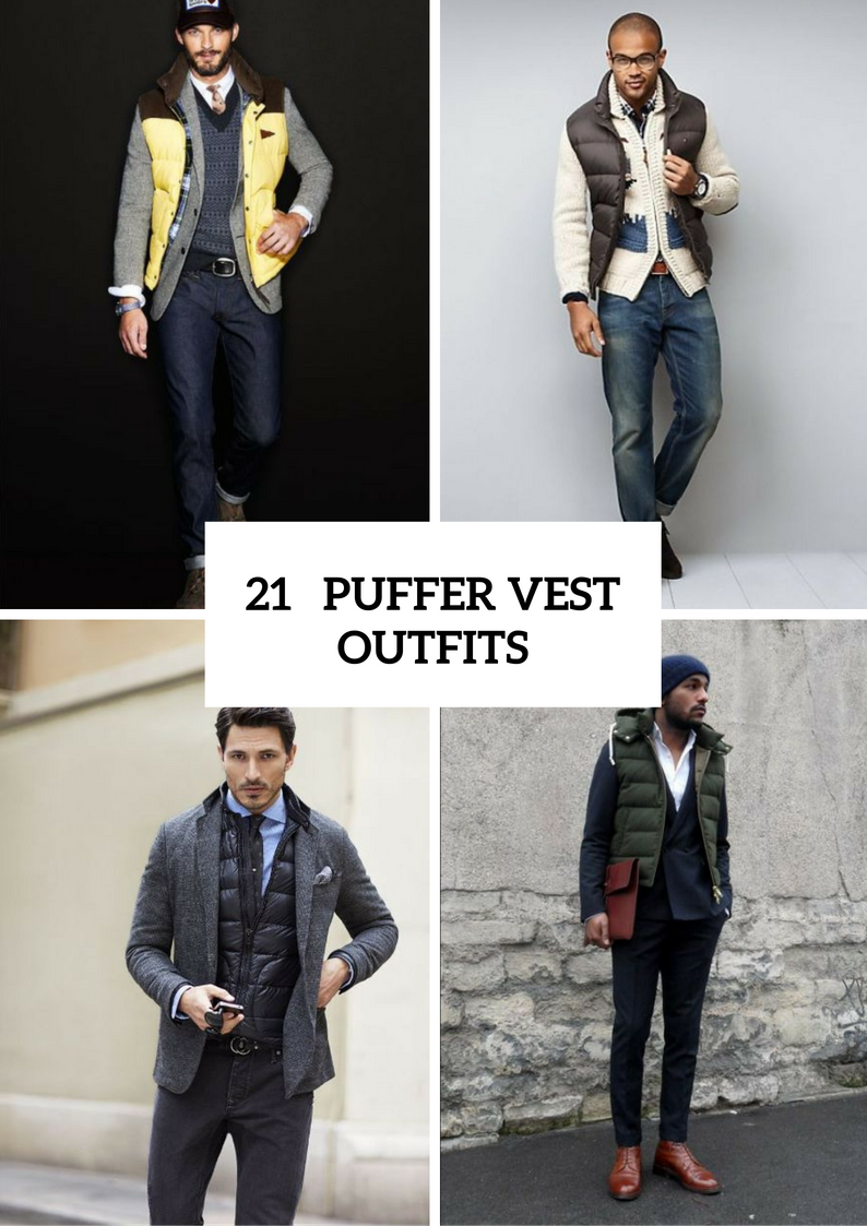 Puffer Vest Outfits For Men