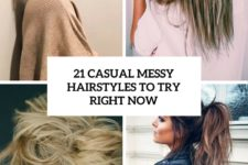 21 casual messy hairstyles to try right now cover