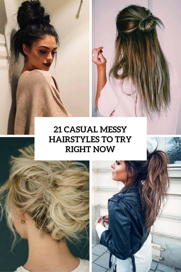 21 Casual Messy Hairstyles To Try Right Now