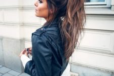 21 messy ponytail is a great idea if you have no time