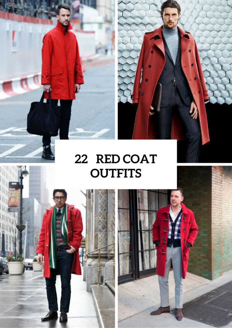 22 Eye-Catching Red Coat Outfit Ideas For Men