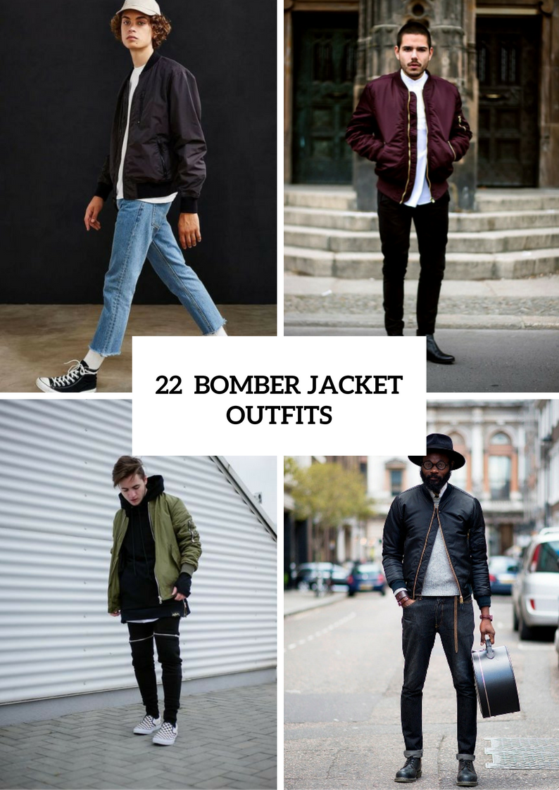 Men Outfit Ideas With Bomber Jackets