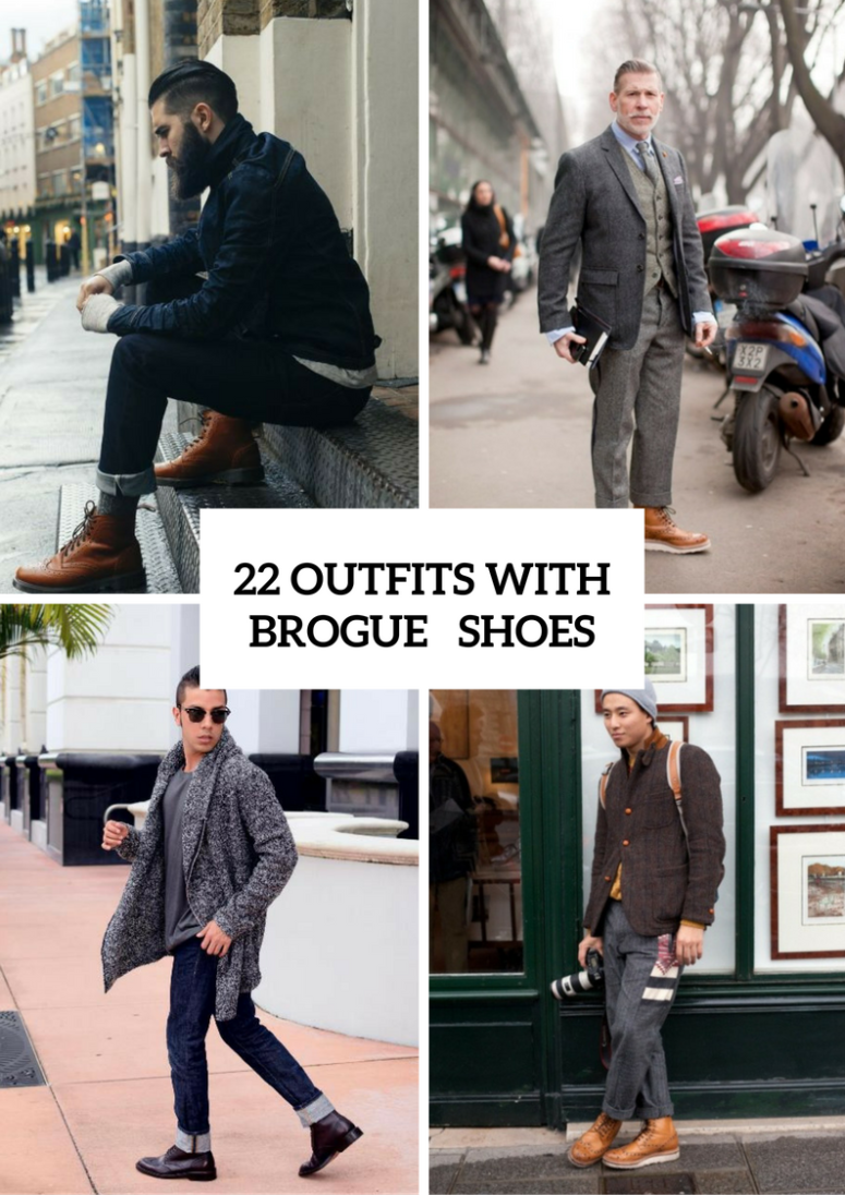 22 Stylish Men Outfits With Brogue Shoes