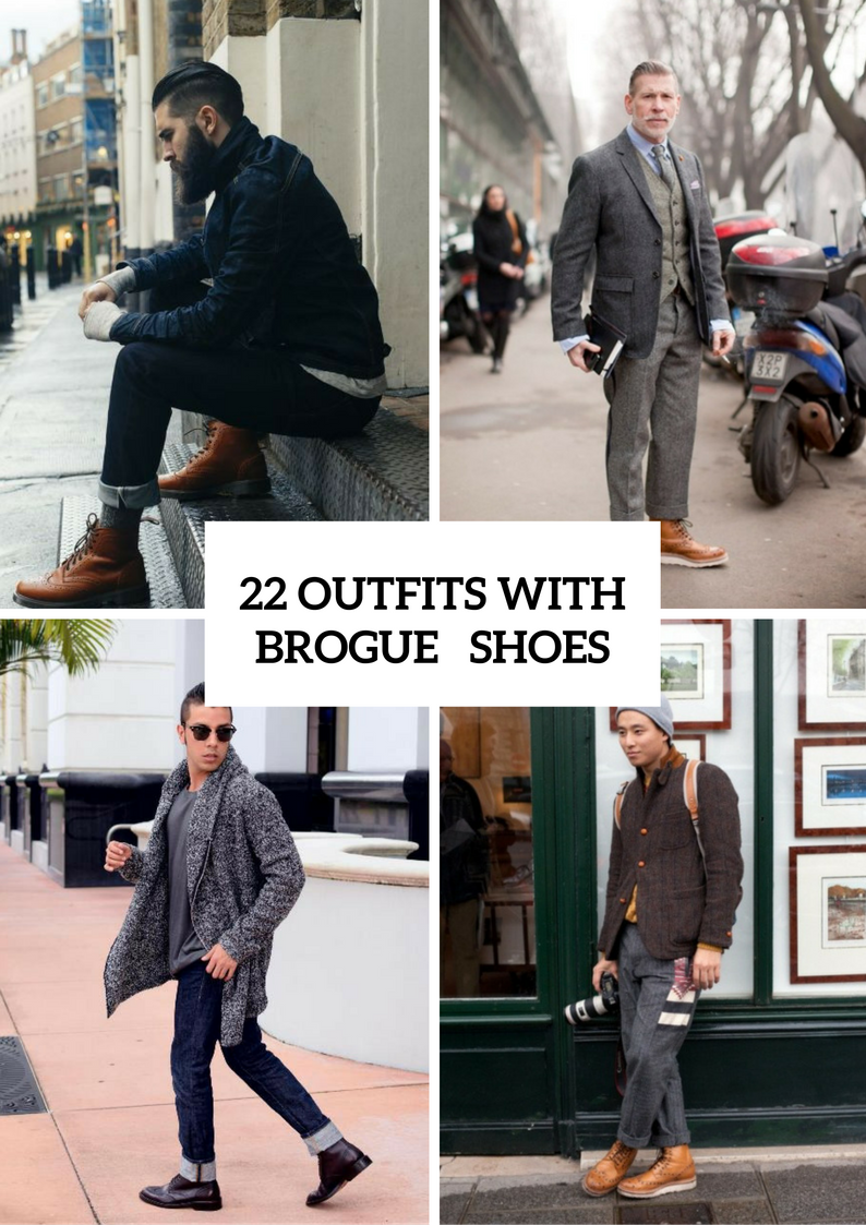 Stylish Men Outfits With Brogue Shoes