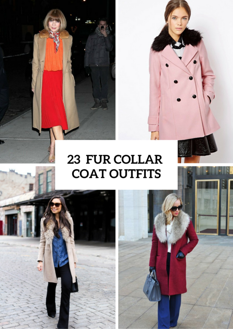 23 Fur Collar Coat Outfit Ideas For Elegant Ladies