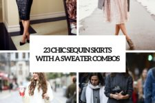 23 chic sequin skirts with a sweater combos cover