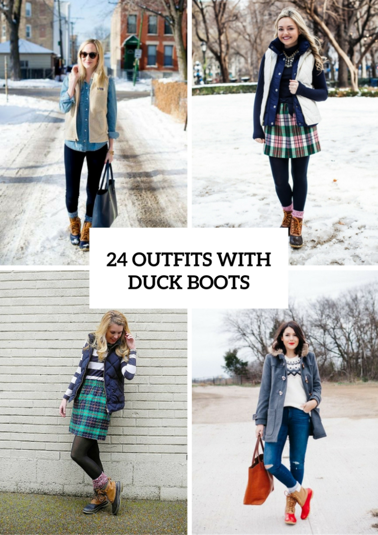 Winter Outfits With Duck Boots