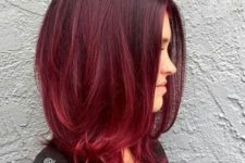 24 ombre red hair to deepen the color