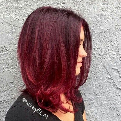 ombre red hair to deepen the color