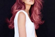 26 red ombre wavy hair