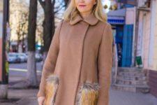 Mini coat with dress