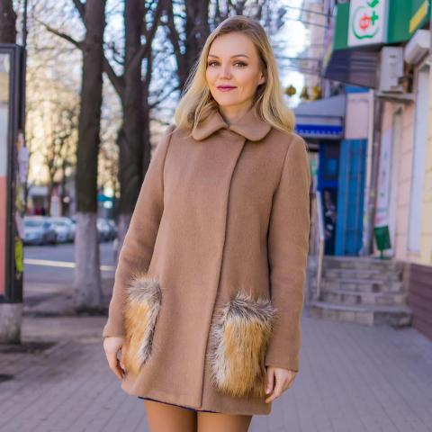 Mini coat with dress