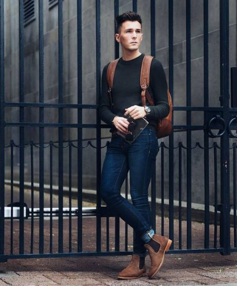 21 Cool Men Outfit Ideas With Chelsea Boots Styleoholic