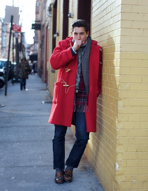 22 Eye-Catching Red Coat Outfit Ideas For Men - Styleoholic
