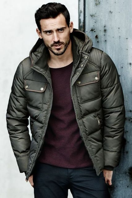 25 Winter Puffer Jacket Outfits For Men - Styleoholic