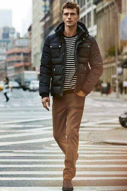 Fashion Tips For Winter  Striped Blazer Jacket