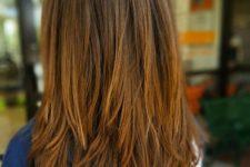 lovely medium length hair with choppy layers