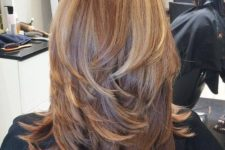 thick balayage fair hair wwith stylish layers