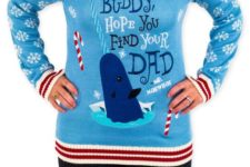 03 blue elf narwal sweater with candy canes