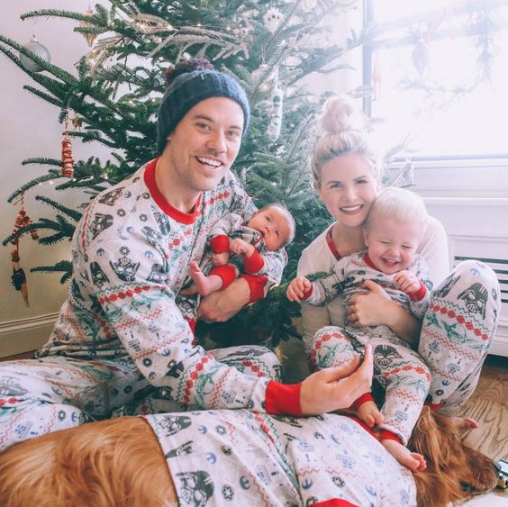 family PJs looks for everyone including the dog