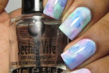 05 pastel watercolor nail art is ideal for spring
