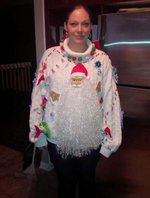 epic bearded Santa sweater