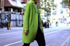 08 sport chic style with a greenery coat and sneakers