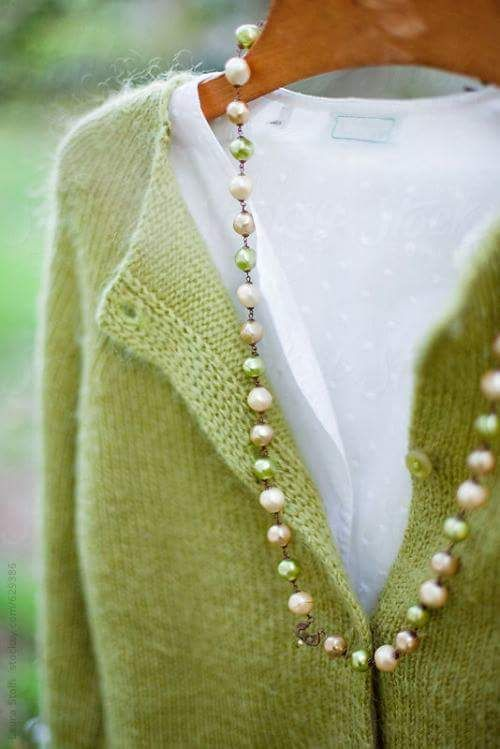 a comfy and warm sweater in greenery color