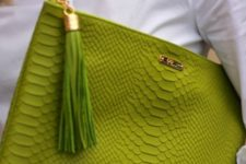 10 chic greenery oversized clutch with a tassel