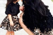 10 leopard skirts, fur jackets and black suede shoes and boots