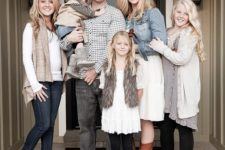 11 patterns, casual and boots for a cute laid-back family look