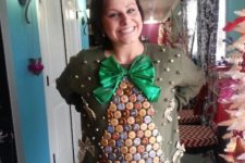 13 tacky Christmas sweater made with beer bottle caps