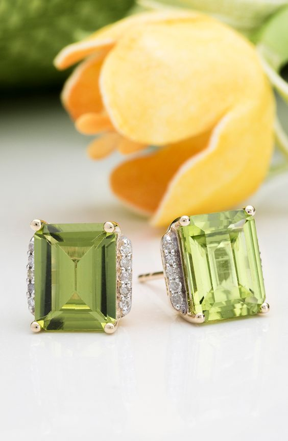 lime green stud earrings