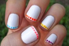 15 colorful polka dot nail art with colorful sharpies