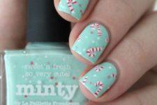 chic mint nails