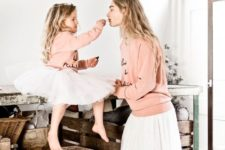 15 white tulle skirts, blush sweaters are amazing for girlish looks