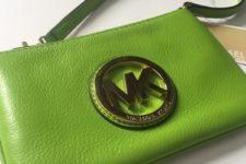 16 Michael Kors wristlet in greenery shade