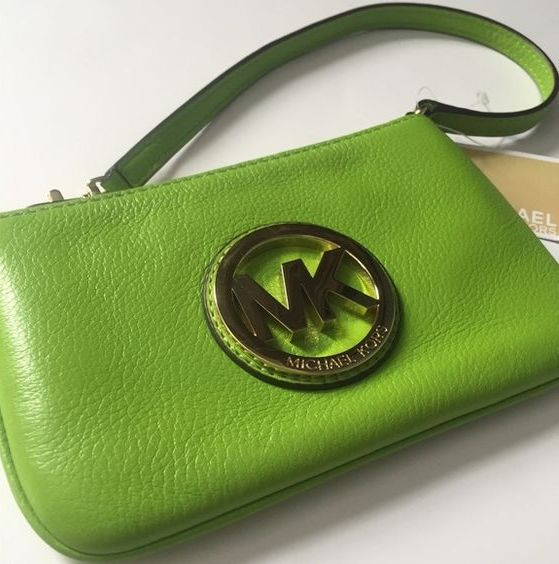 Michael Kors wristlet in greenery shade