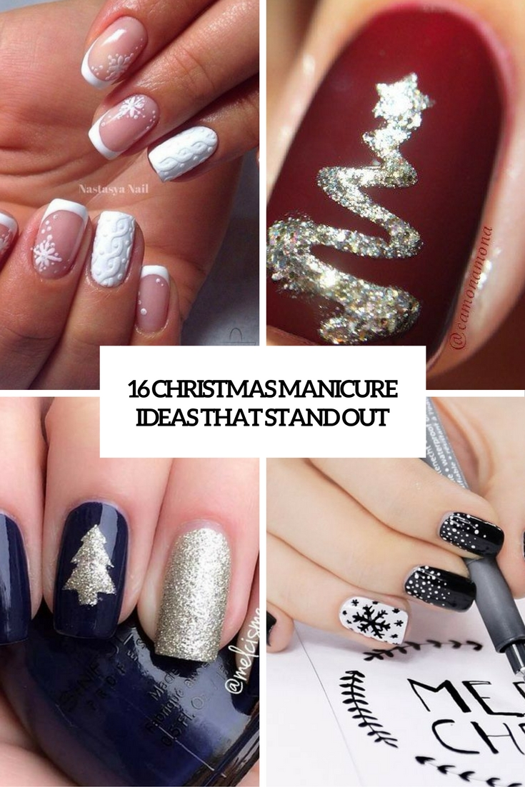 16 Christmas Manicure Ideas That Stand Out