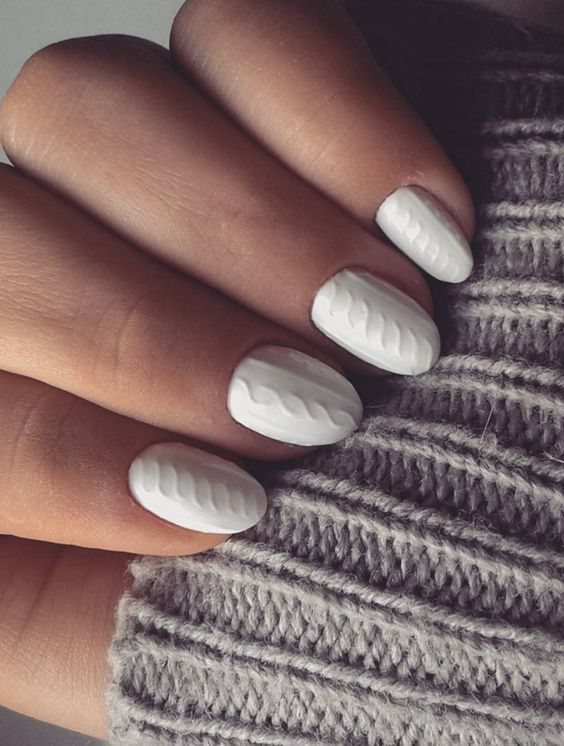 recreate your cable knit sweater on your nails