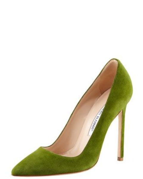 suede pointed-toe Manolo Blahnik pumps