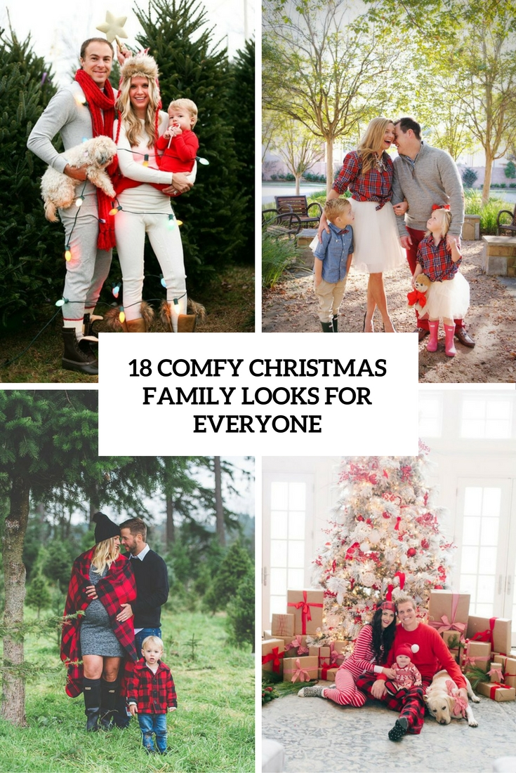 18 Comfy Christmas Family Looks For Everyone