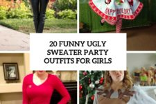 20 funny ugly sweater party outfits for girls cover