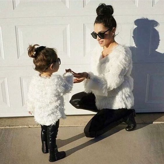 Picture Of Leather Pants White Fur Coats And Boots